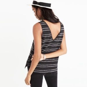 NWT Madewell Terry Tank Black Size S